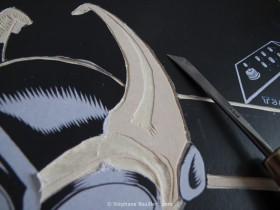 gravure sur bois: couteau