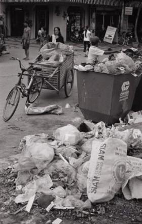 Déchets poubelles Cambodge