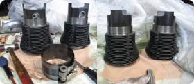 Combi VW: montage piston cylindres