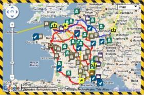 Carte du nucléraire en France